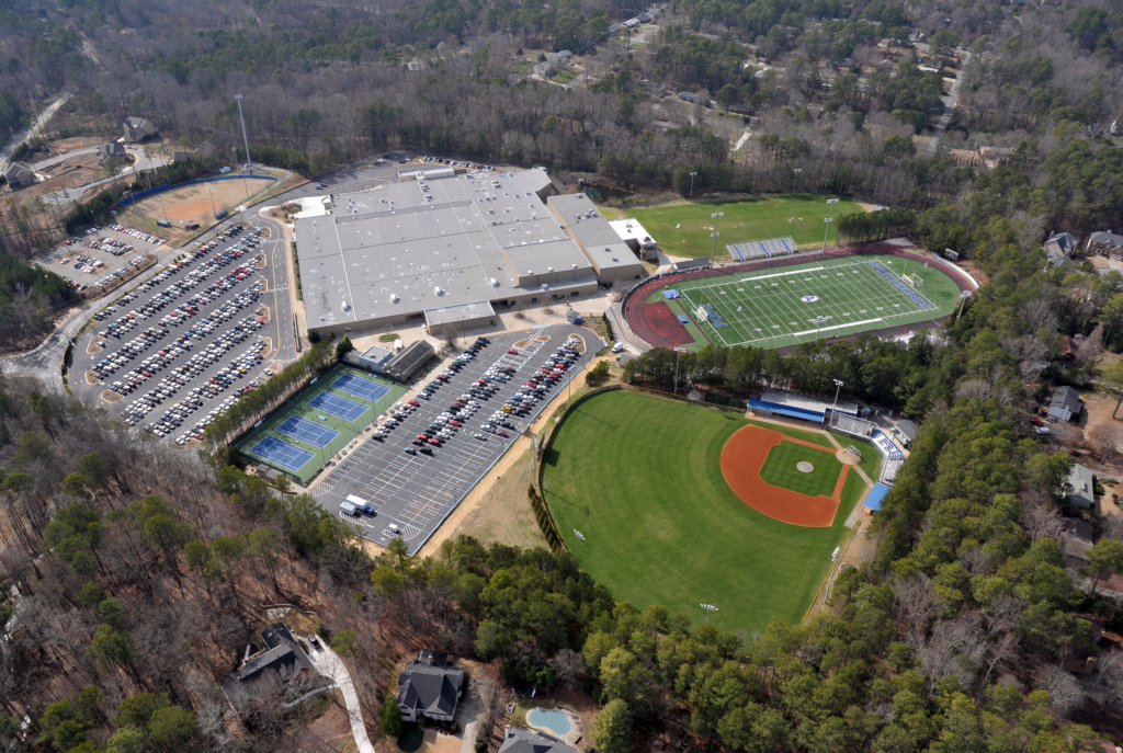 Pope High School Ariel | Cooper & Company General Contractors