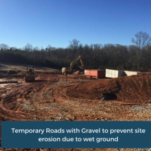 Temporary Roads with Gravel | Habersham County Administrative Building | Cooper and Company General Contractors | Northeast GA