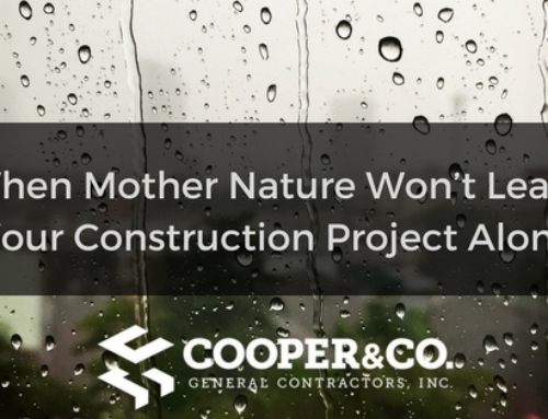 What To Do When Mother Nature Won't Leave Your Construction Project Alone
