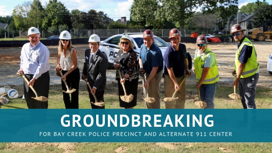 Groundbreaking for Bay Creek Police Precinct | Gwinnett County Government | Cooper & Company | Grayson, GA