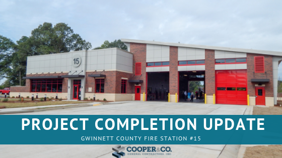 Project Completion: Gwinnett Fire Station #15 | Cooper & Company General Contractors, Inc
