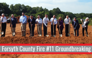 Forsyth Fire Station 11 Groundbreaking | Cooper & Company