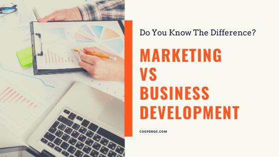 Cooper & Company | Marketing vs Business Development